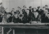 Ława oskarżonych w procesie Witolda Pileckiego (marzec 1948)
